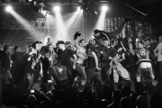 Crowd Surfing on Stage | The Exploited