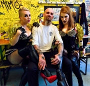 Betty, Nick & Christin backstage in the SO 36
