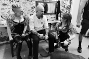 Betty, Nick and Christin backstage in the SO 36, Berlin